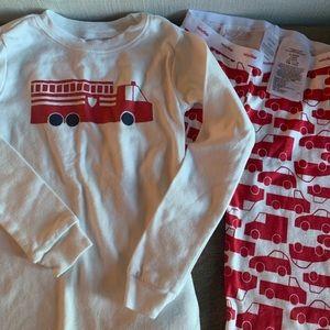 GAP Kids Boys Firetruck Pajamas